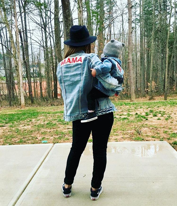 Mama Denim Jacket / Ingrid & Isabel Maternity • @vagabond3
