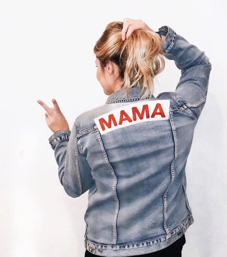 Mama Denim Jacket / Ingrid & Isabel Maternity • @maryahafner