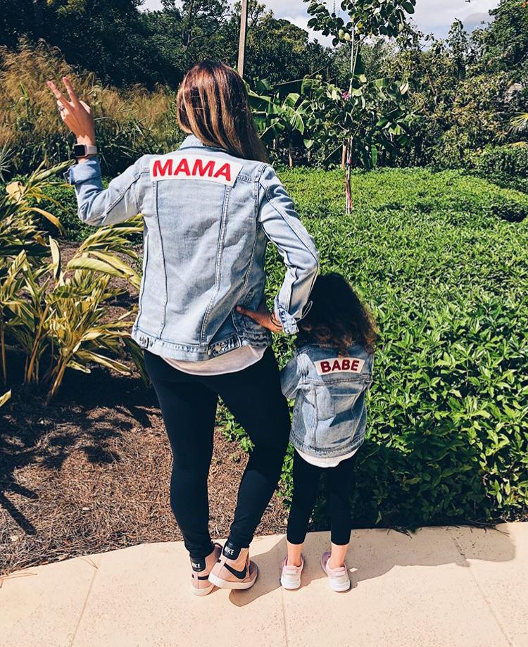 Mama Denim Jacket / Ingrid & Isabel Maternity • @indianapoliswives