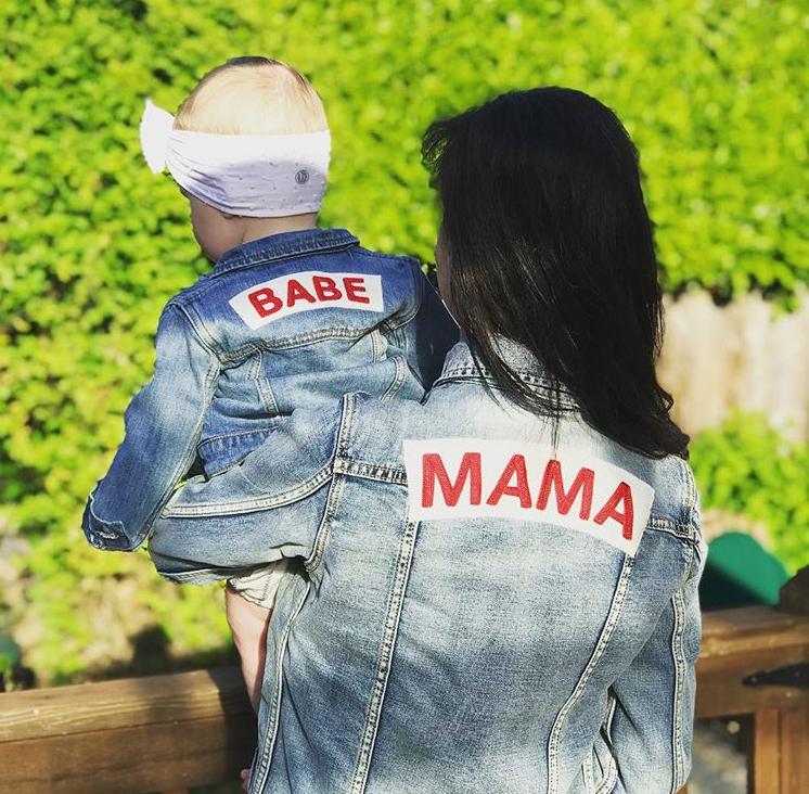 Mama Denim Jacket / Ingrid & Isabel Maternity • @andreaverner