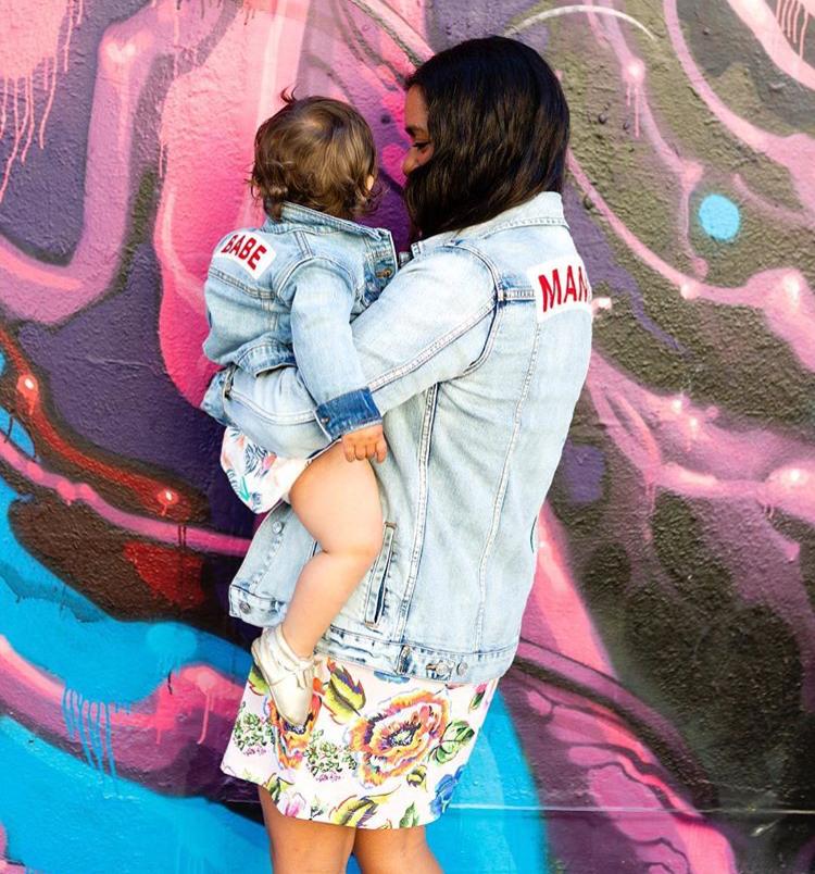 Mama Denim Jacket / Ingrid & Isabel Maternity • @anjelikatemple