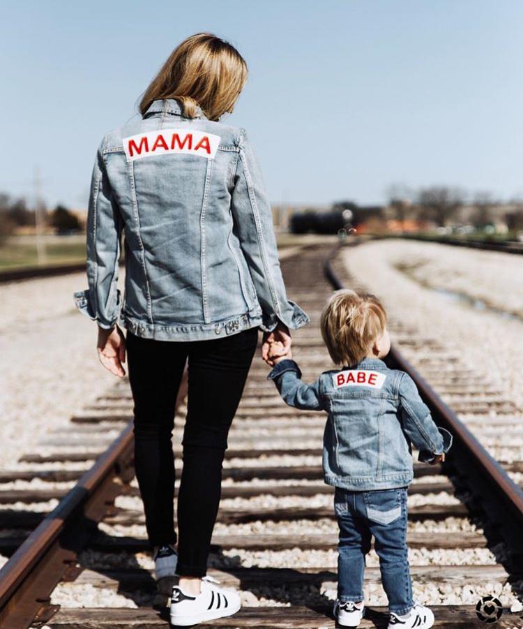 Mama Denim Jacket / Ingrid & Isabel Maternity • @mallorychristineandersen