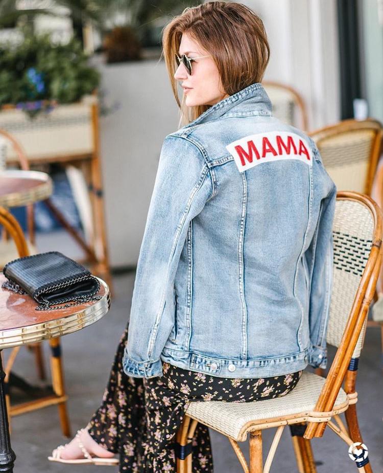 Mama Denim Jacket / Ingrid & Isabel Maternity • @ashleefrazier