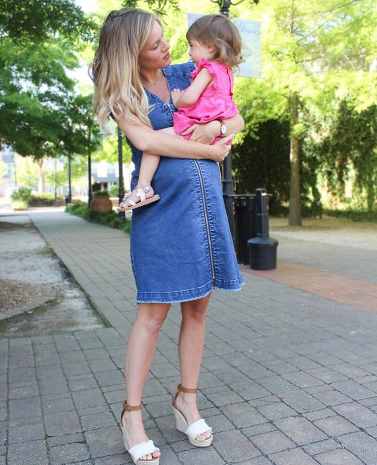 @littlesourthernwife • Summer Denim Style • Ingrid and Isabel