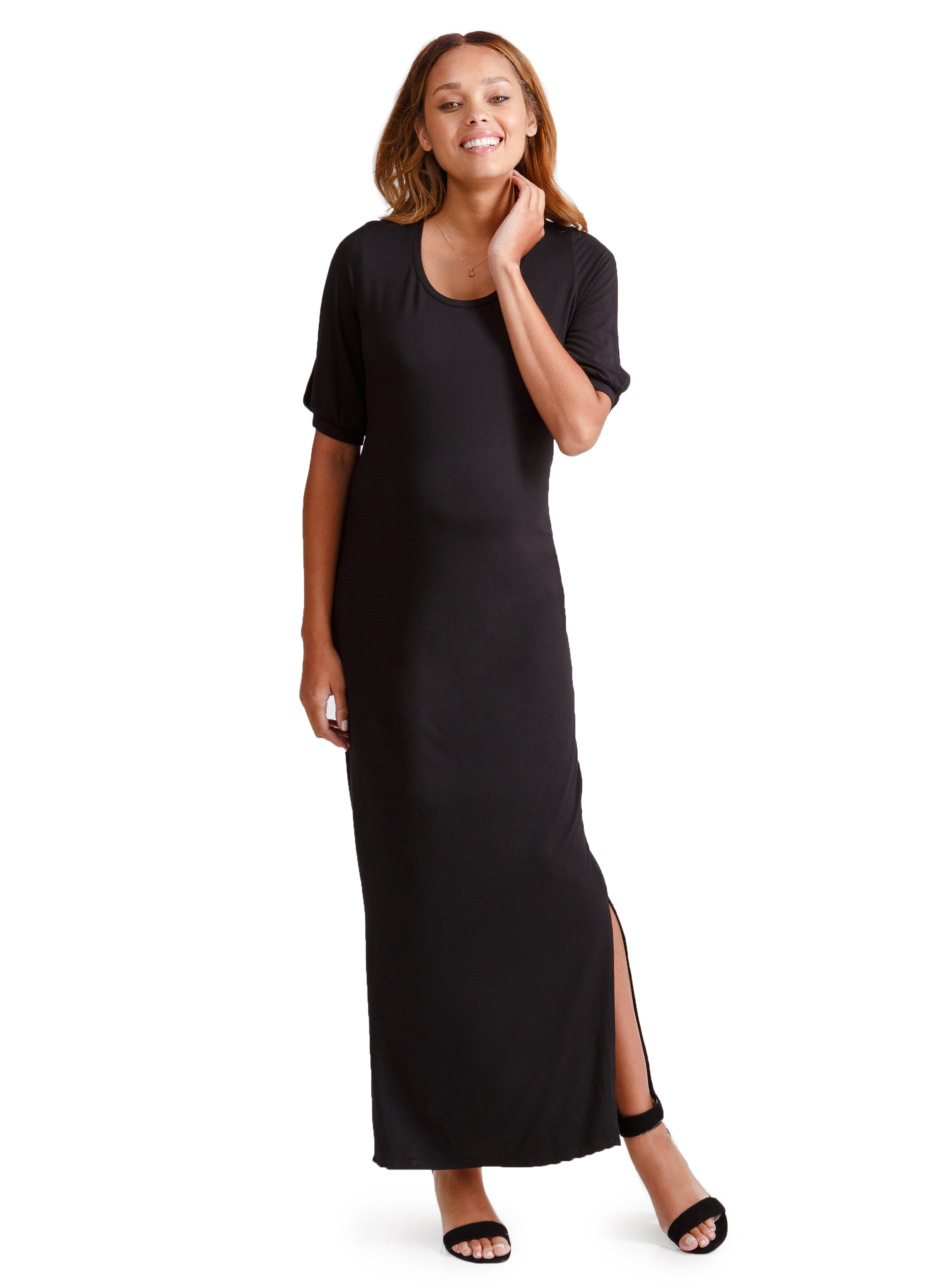 Split Sleeve Maxi Dress • Ingrid and Isabel • A Mother Is, The Blog All For Mom
