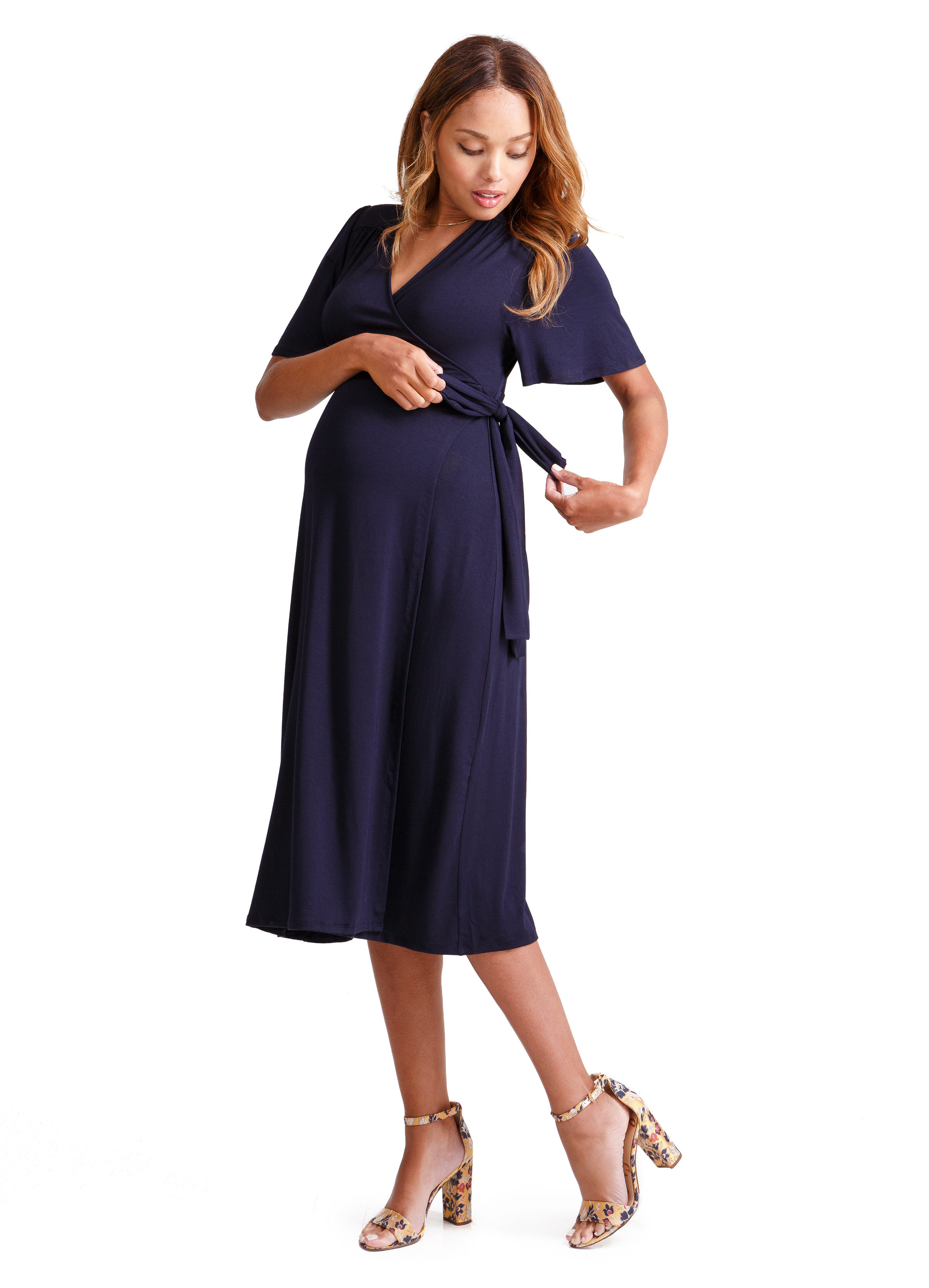 Flutter Sleeve Knit Wrap Dress • Ingrid & Isabel • A Mother Is, The Blog All For Mom