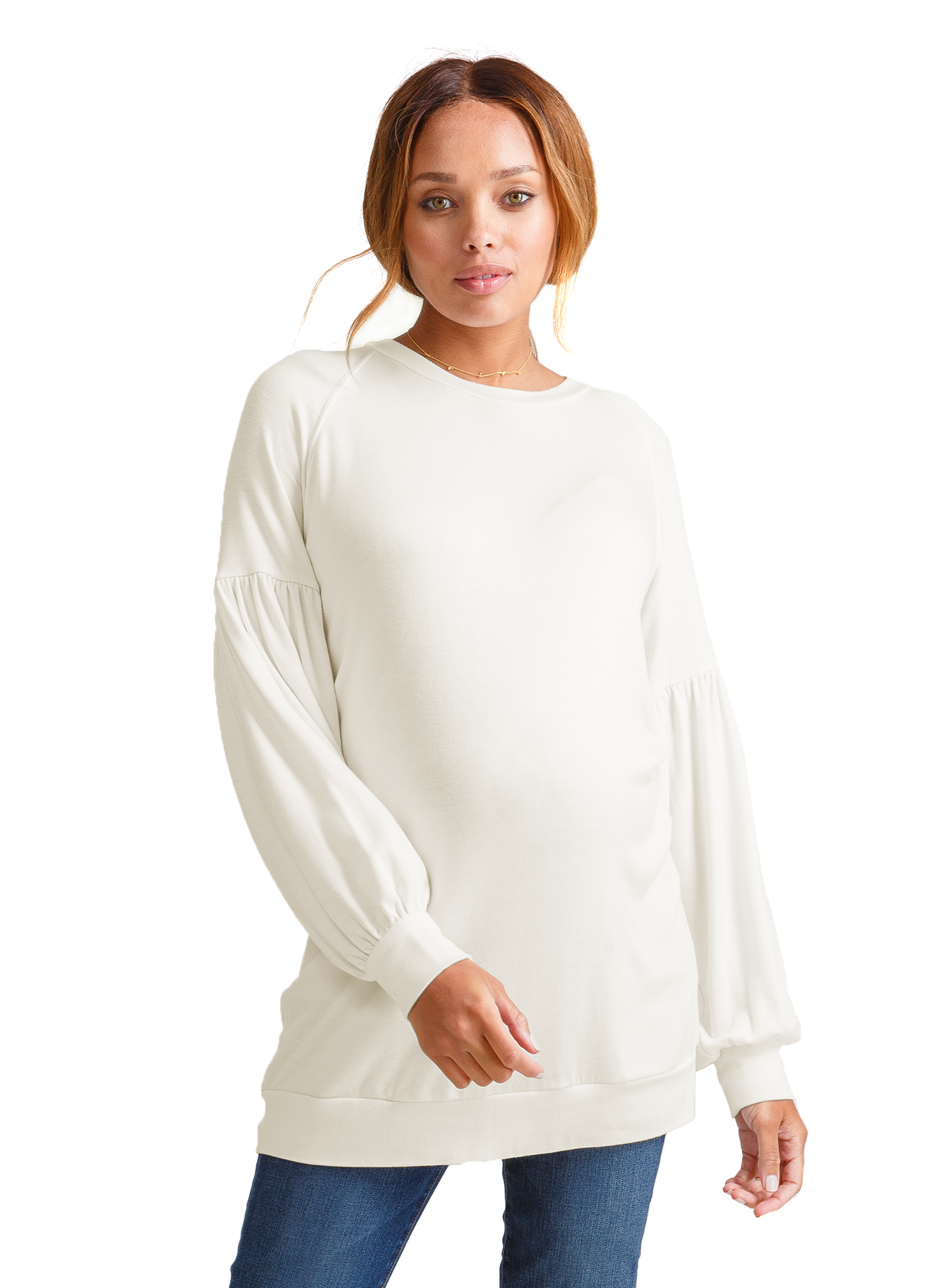 Cozy Puffed Sleeve Tunic • Ingrid & Isabel • A Mother Is, The Blog All For Mom