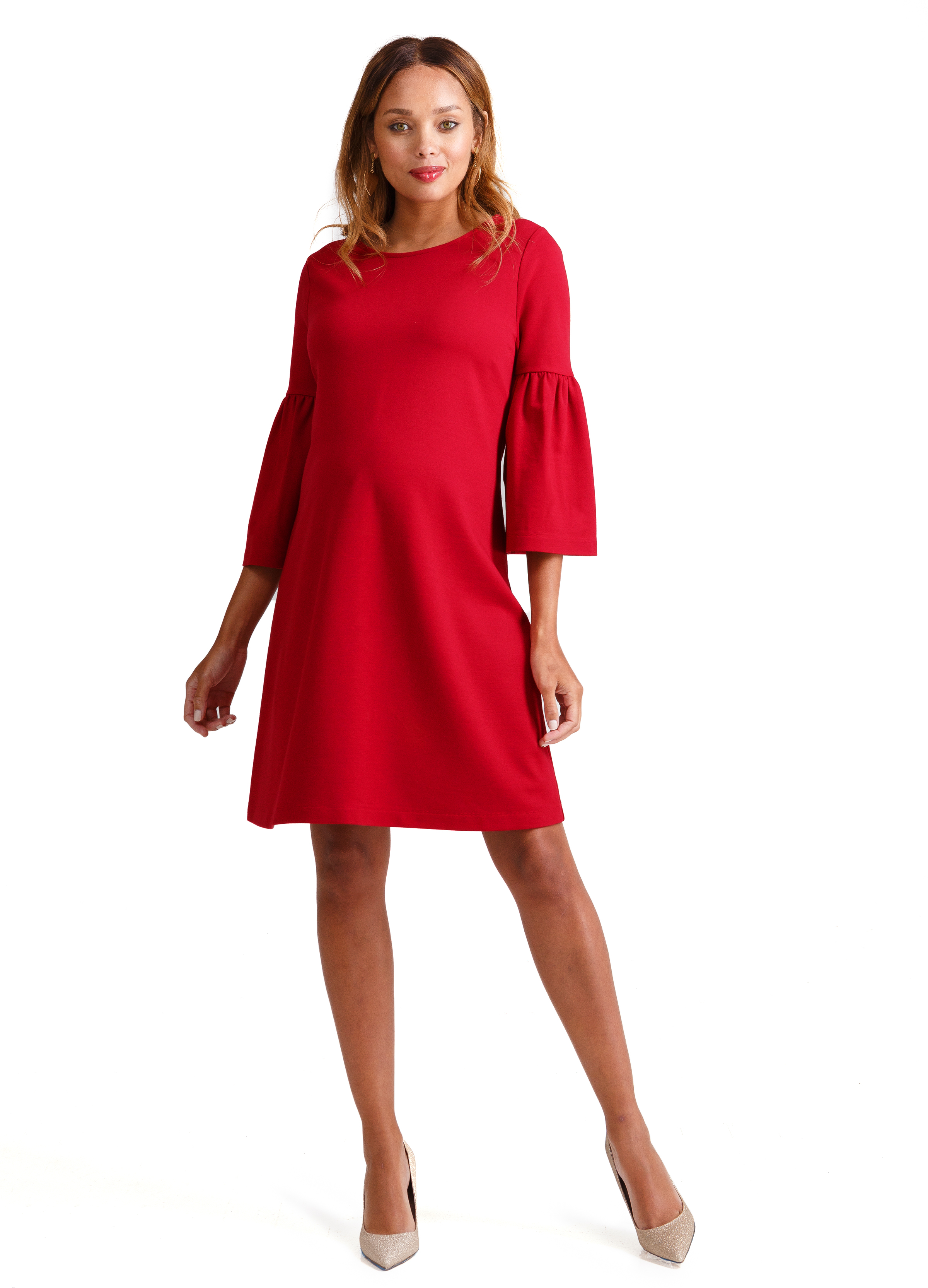 Ponte Bell Sleeve Dress • Ingrid & Isabel
