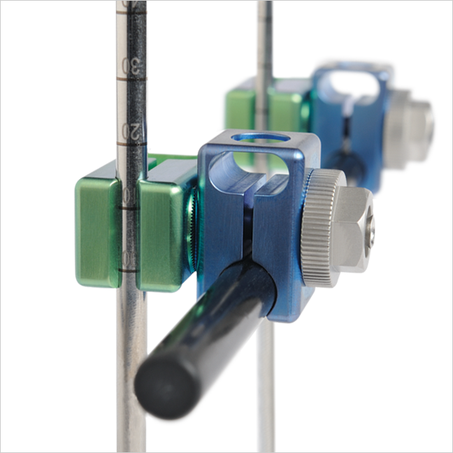 External Fixation Platform - AOS has a full range of rods, pin-to-rod clamps, multi-pin clamps, and pins used for the management of bone fractures and reconstructive orthopedic surgery. Our Large Bone and Small Bone External Fixation systems are indicated for external fixation of open and/or unstable fractures of the tibia, femur, spanning of the knee and ankle joints, hand, wrist, forearm, and foot.