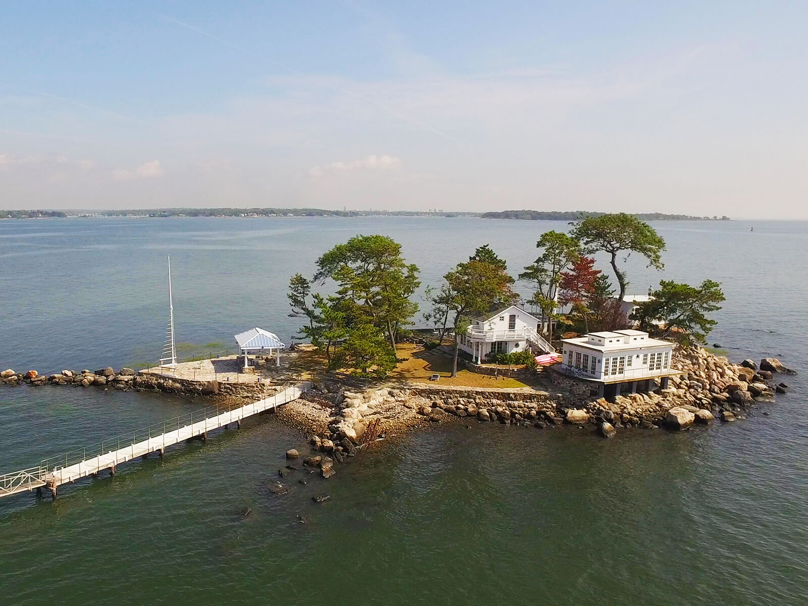 Aerial Imagery of waterfront property