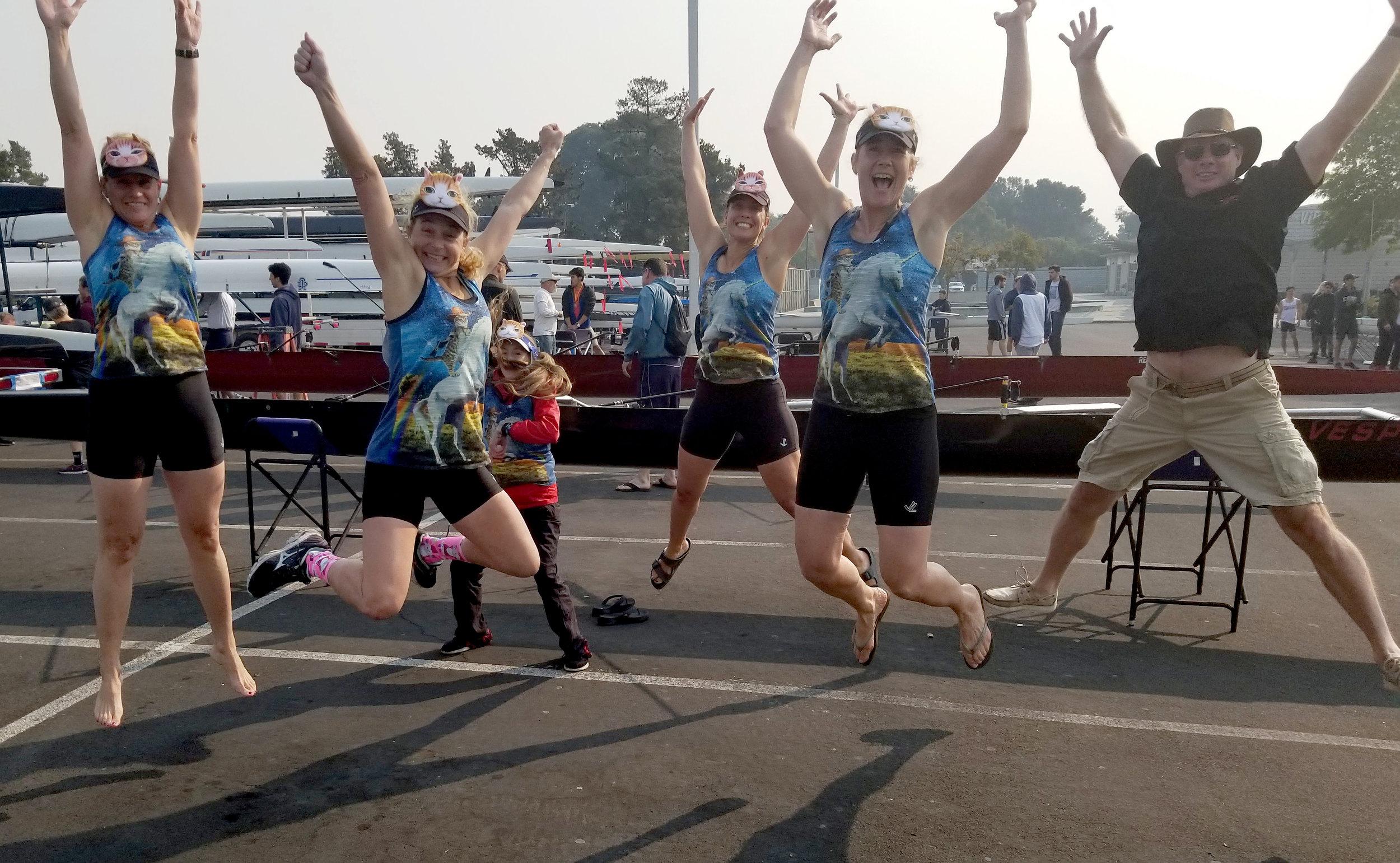 Masters Women 4+ at the Lagoon. 📷credit: Loring Weidner.