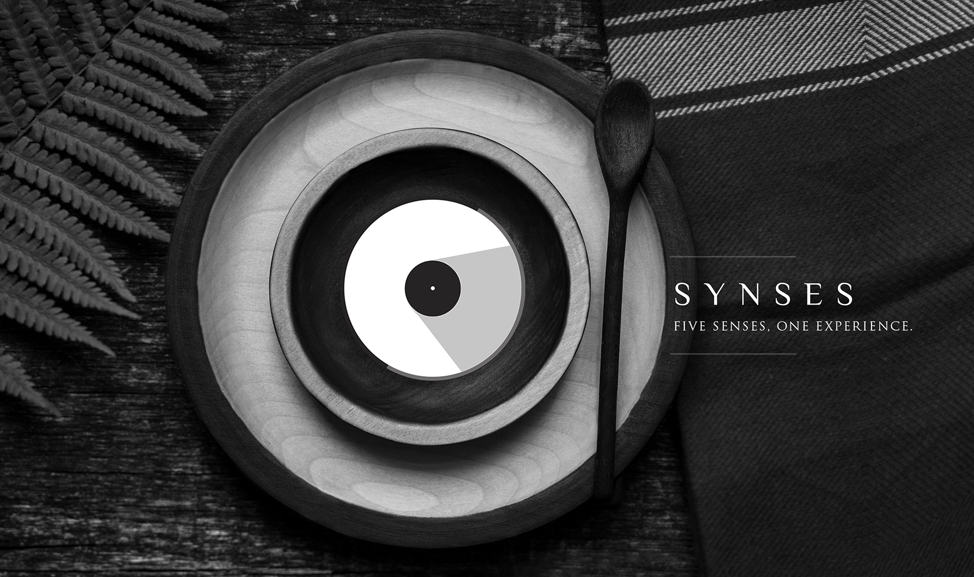 The logo is inspired by record disks and plates. With the circle also being a symbol of original perfection and infinity.