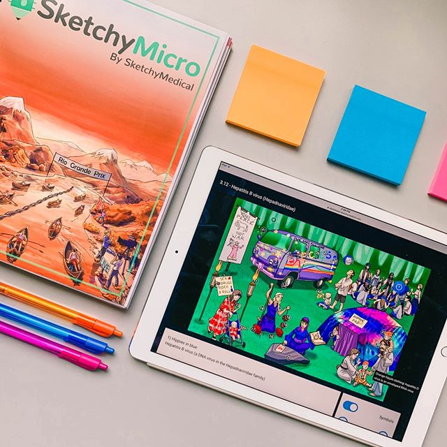 There's something satisfying about a fresh #sketchymicro workbook.  We're currently sold out, but more will be coming soon! Be sure to subscribe to our e-mail list to be the first to know when our restock happens. #sketchypharm and #sketchypath are currently available, so be sure to grab them before they're gone!
