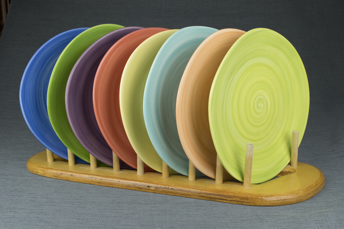 Dinner Plate. One of my best sellers. I love the slightly uneven shape and the linear texture.