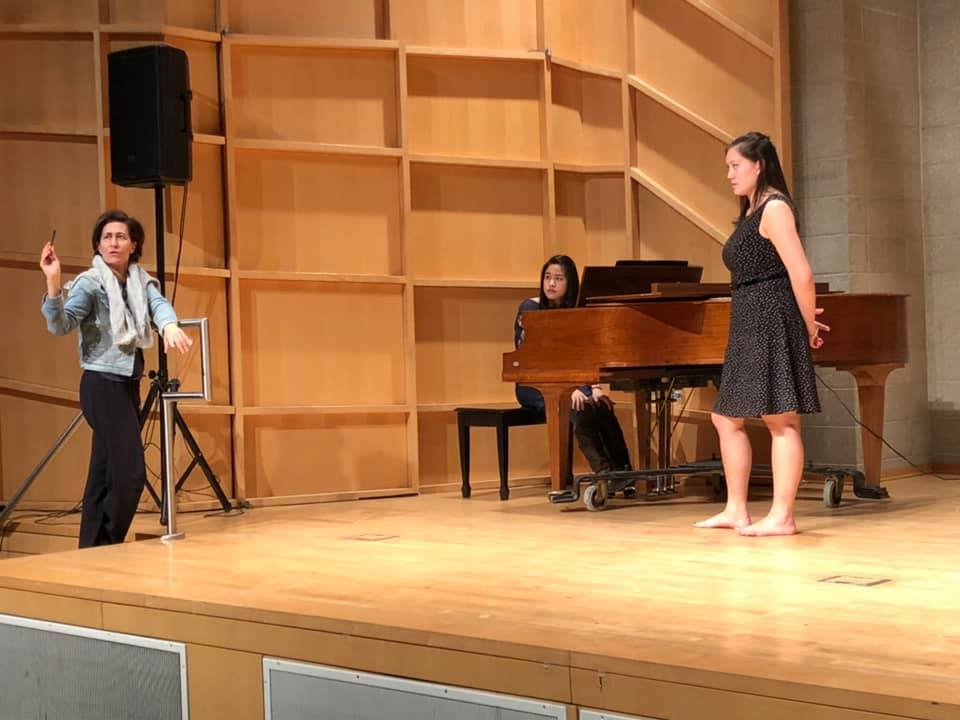 Lotte Lenya Semi-Finals at Baruch College. Also pictured, guest Semi-Final judge Jeanine Tesori and pianist Florence Mak.