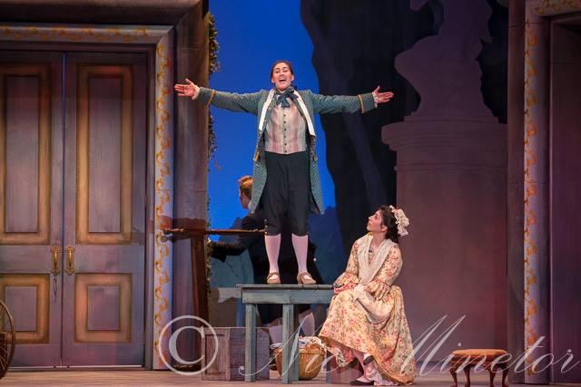 As Cherubino in  Le nozze di Figaro  at Eastman Opera Theatre.  Photo Credit: Nic Minetor 2016.