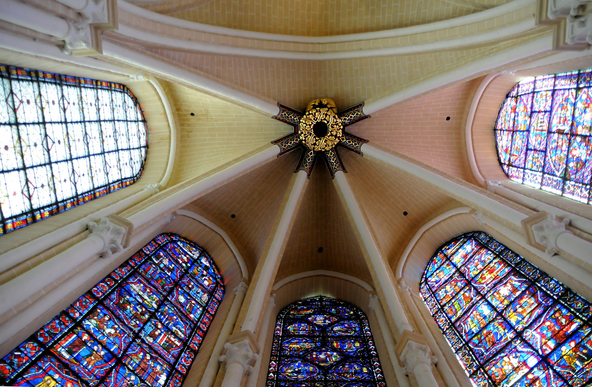Stained glass windows from the Chartres Cathedral
