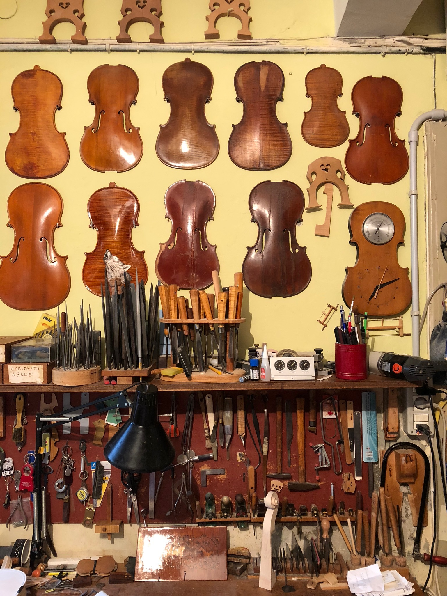 The modern version of the violin was born here in the 16th century and we saw them made in this workshop! We loved our personal tour of this tiny father/son operation.