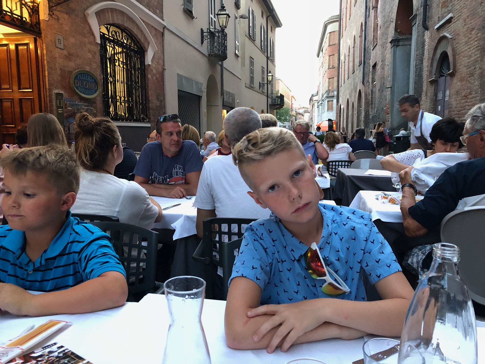 We felt like locals in this bourgeois town - although Jack noted here he was tired of eating out. 😂