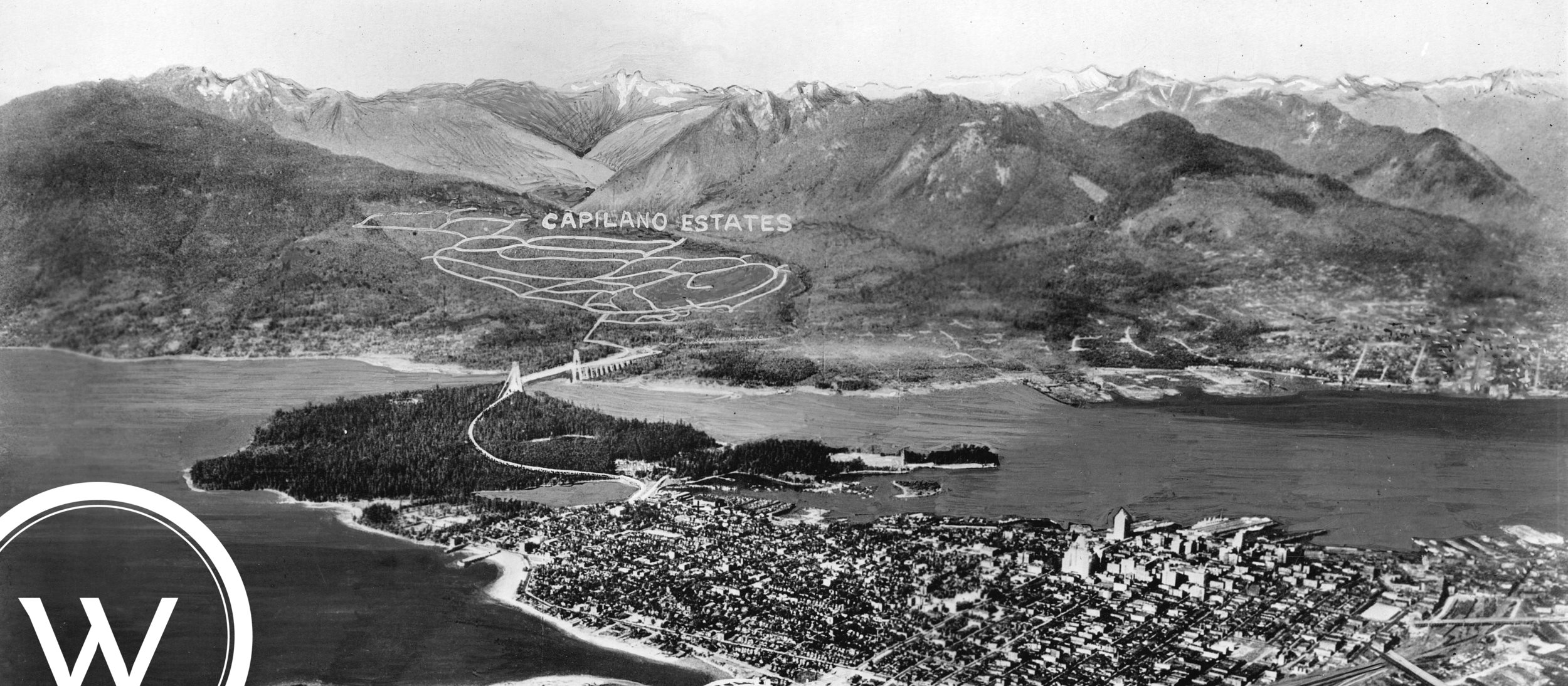 Aerial View of Vancouver Showing North and West Vancouver 1931-W7.jpg