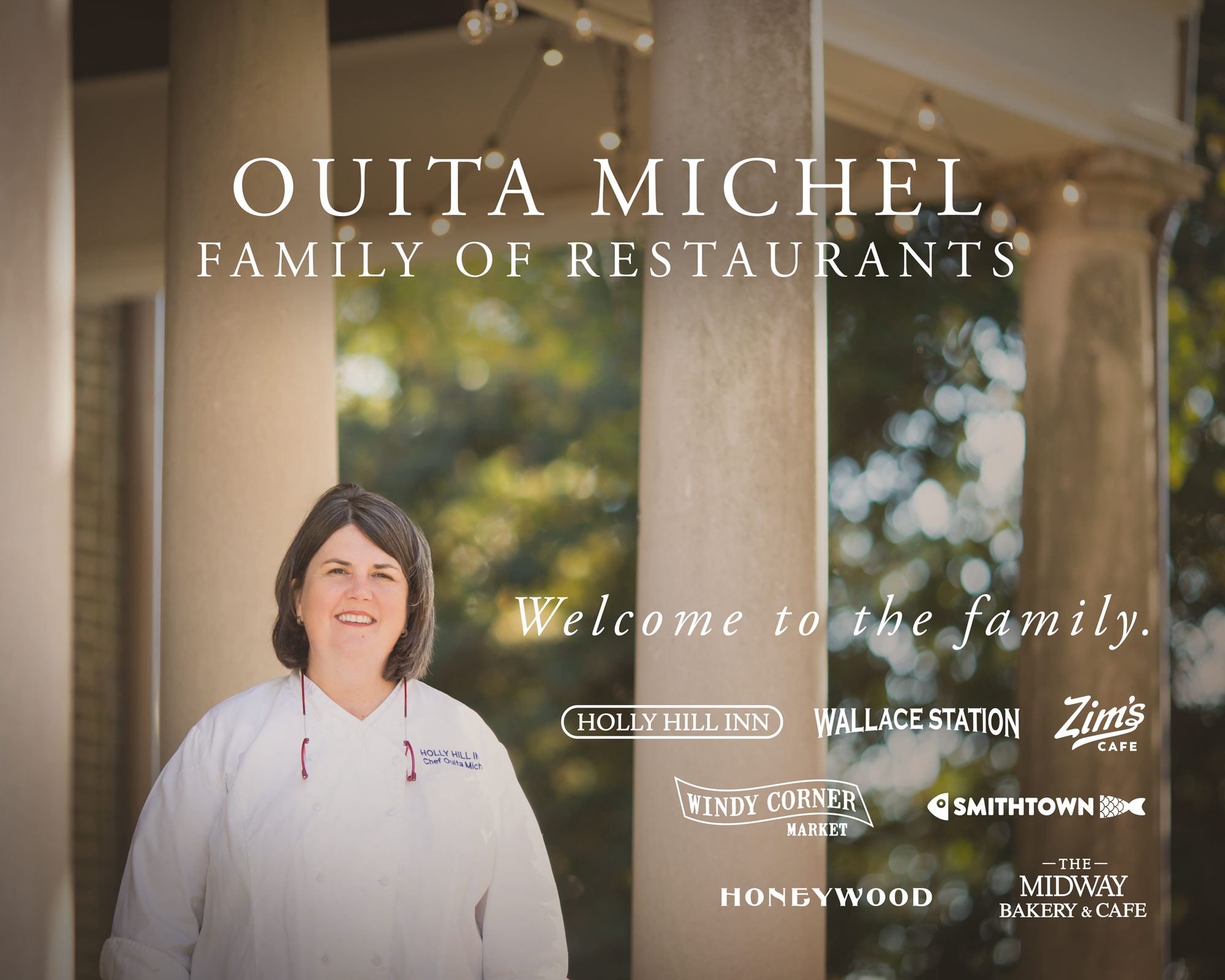 Ouita Michel Restaurants- - 8 locations in Lexington and MidwayOuita is so well known in our area that she is just known by the name of her restaurants. They each have their own distinct menu and vibe! Try them all!https://www.ouitamichel.com/