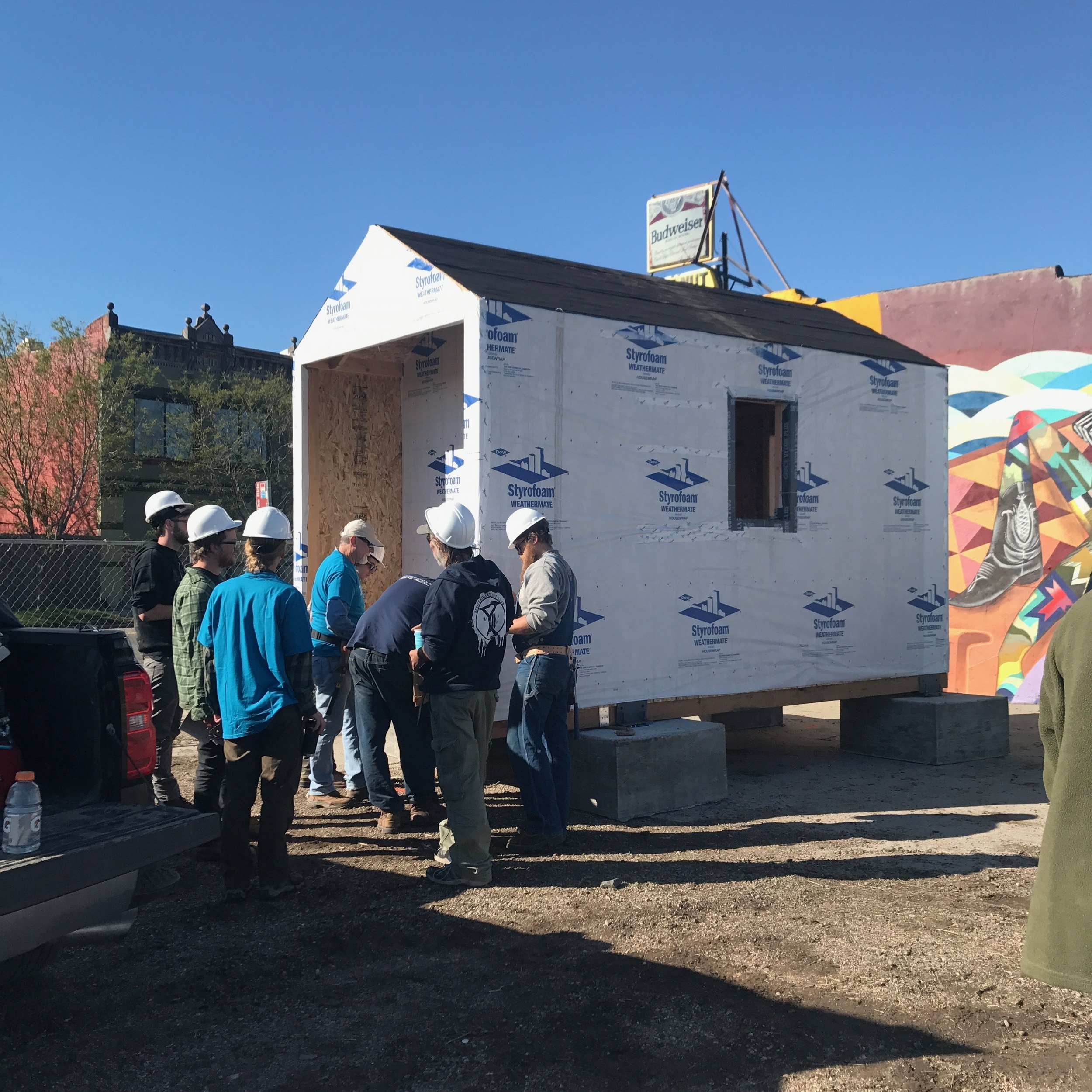 Tiny HomeVillages - In 2017, we co-founded Colorado Village Collaborative alongside advocacy partners to rapidly and affordably develop self-governed communities with and for people coming out of homelessness. We're making good on our beliefs that housing is a human right, that everyone should be treated like a human being, and everyone should have a safe place to thrive.
