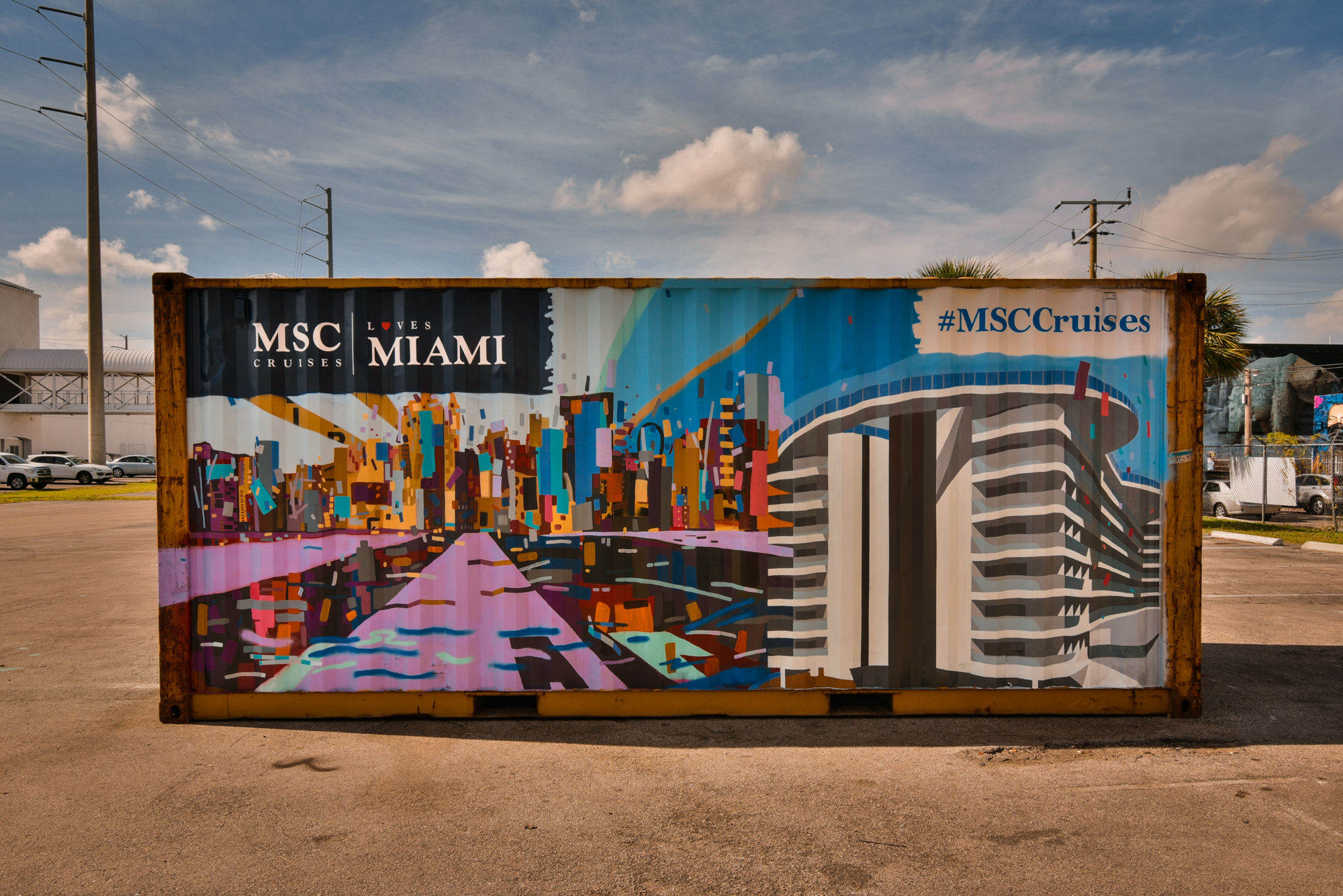 MSC Shipping Container
