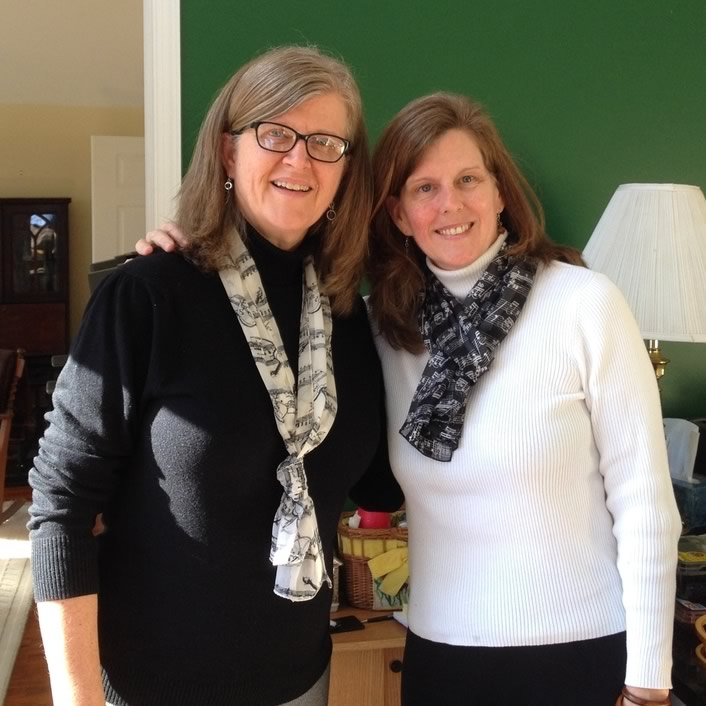 Sisters Lee Anne Sheridan and Lucy Williams,in whose family the homeplace has been for over 130 years!