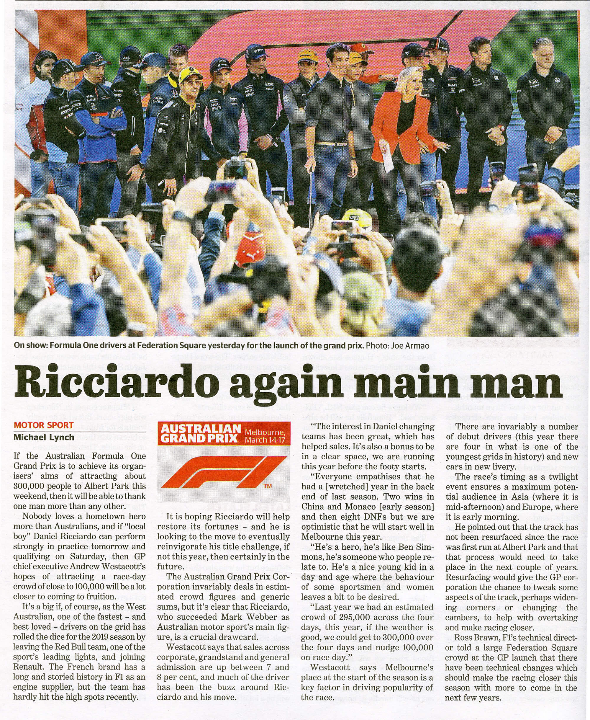Formula 1_The Age_14th March 2019