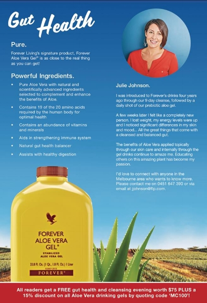 Aloe Vera products that will optimise your health and that of your family!