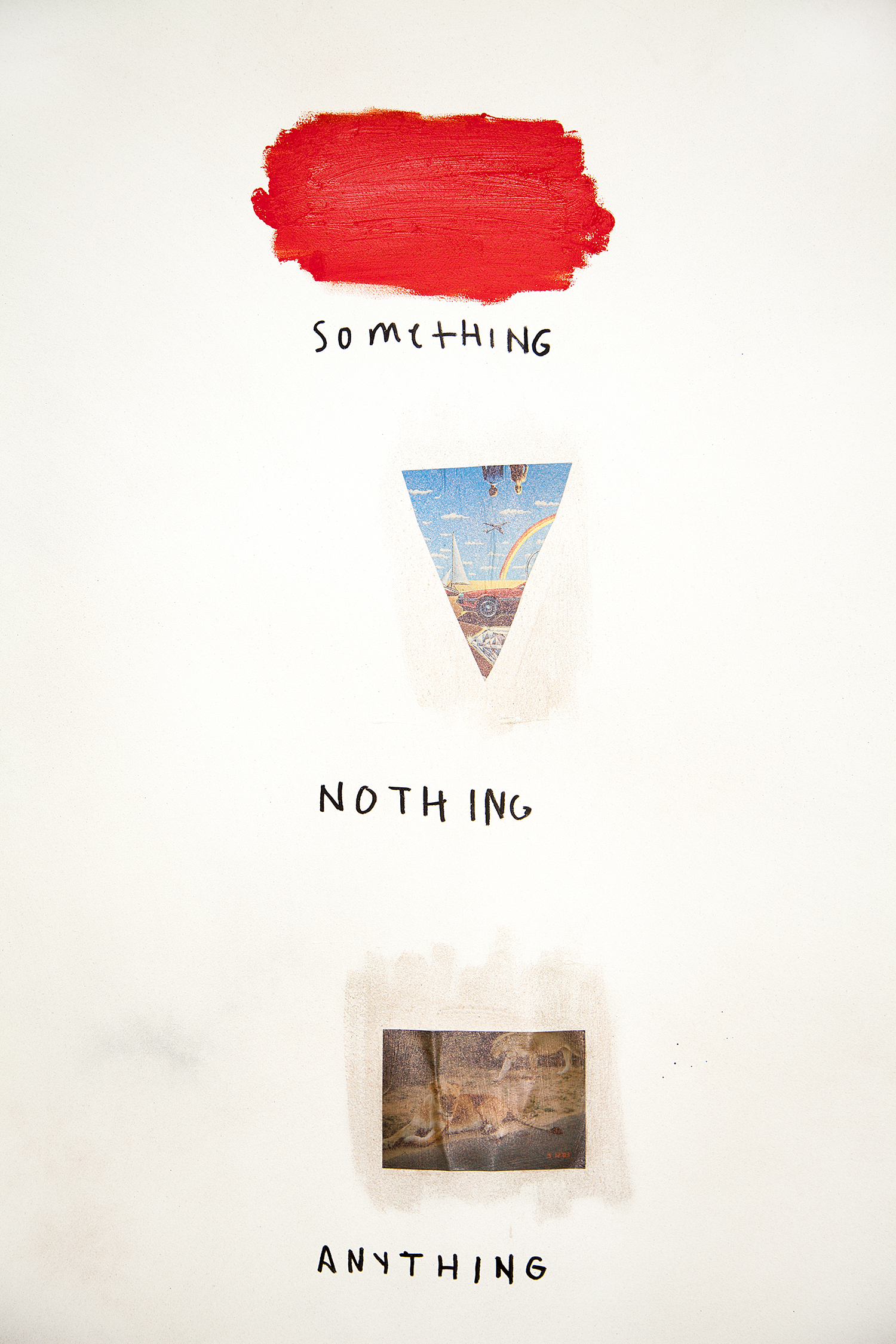 Something Nothing Anything  (Detail), 2018, mixed media on watercolor paper, 51 x 44 in