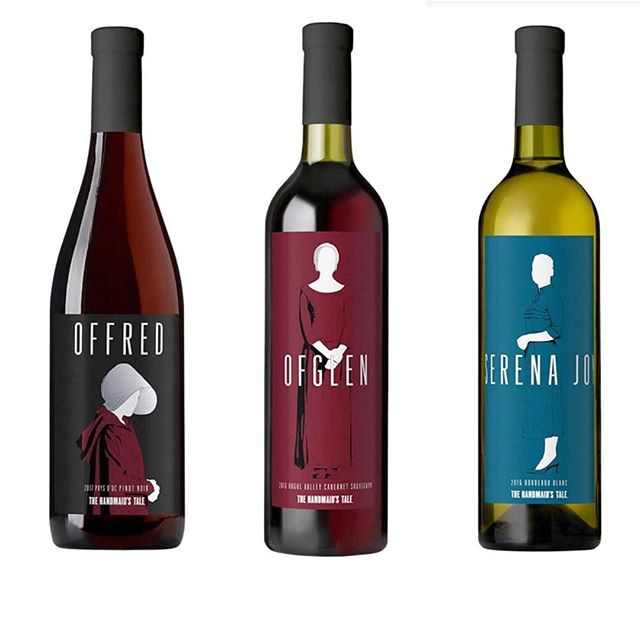 GUYYYS. 😱😱😱 🚨 Announced today, there are now official @handmaidsonhulu WINES. 😅🚨I am SHOOK. With the finale this week, I was already excited for how they're ending S2 but now these are released and I'm questioning everything. Should I be sad that a decent tv show is making wine for their advertising? Is this the new wave for television and food and drink?? Or do I just geek out over how well paired the wine is with the show characters??? I don't even know. Cheers to our impending apocalyptic societal doom while I figure out what this all means. 🤷🏻♀️ • Available for purchase at @lot18wine. Blessed be the fruit (in bottles). 💃🏻🍷