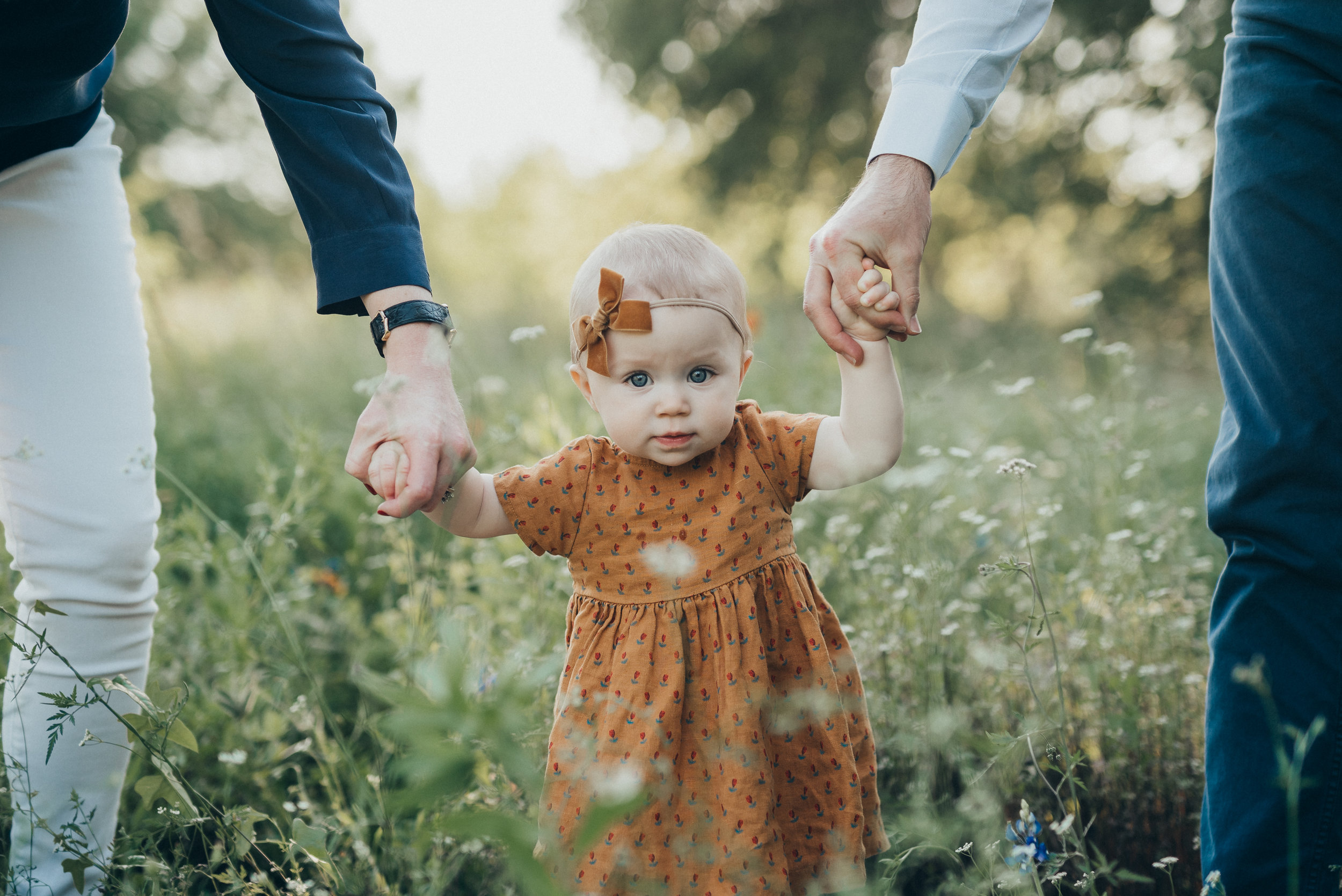 orange ochre dress fall family photos