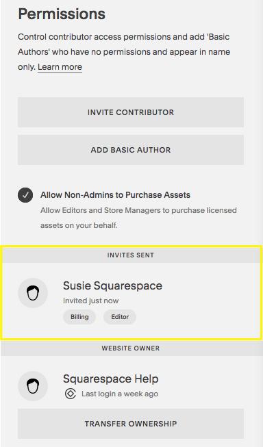 Invited contributors appear under Invite Sent.png