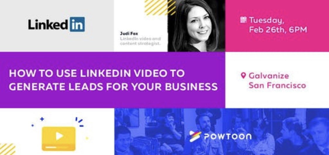 Video - See the full video and slides - February 26, 2019 - San Francisco Marketers Club Event at Galvanize - How to use LinkedIn Video to Generate Leads for your Business