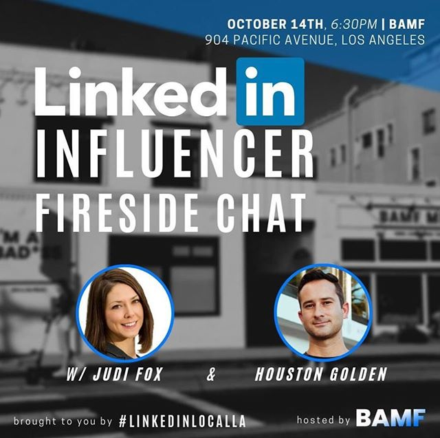 LinkedIn is like Yelp for people!  We find GREAT people, recommendations, referrals, and conversations happen EVERYDAY on LinkedIn.  Going LIVE tonight on linkedin at BAMF Media  We are taking a deep dive into Video and Written Content Strategy on LinkedIn with myself and Houston Golden and Rockstar hosts!  Patrick Ward ⭐ Goldie Geisinsky ✔ FOLLOW #foxrocks to watch the event on #linkedinlive  TAG anyone you know in the local LA area or visiting... Because I am also speaking and rocking out VidSummit this week too and want to see you ❤️🦊