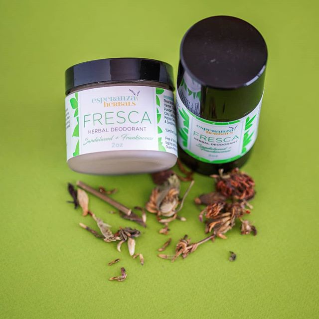 Fresca Herbal Deodorant has been our most popular product since Esperanza Herbals launched! 🌱 Stock up today while it's still available for 40% off during our CLOSEOUT SALE on ALL items. 🌱 Over the next few months I will be making significant changes to my website and offerings 🌱 Because of these updates I will be discontinuing my current product line.Everything I have in stock MUST GO to help fund and make room for the new offerings I will be bringing to Esperanza Herbals in the next few months. 🌱 www.esperanzaherbals.com/shop 🌱 . . . . . . #fresca #herbalism #herbaldeodorant #nontoxicdeodorant #organicskincare #naturalskincare #aluminumfree #handmade #organicbeauty #naturalbeauty #beauty #skincare #herbalskincare #herbalbeauty #detox #plantbased #shoplocal #bostonbusiness #bostonherbalism #womenowned #blackowned #latinaowned #supportsmallbusiness