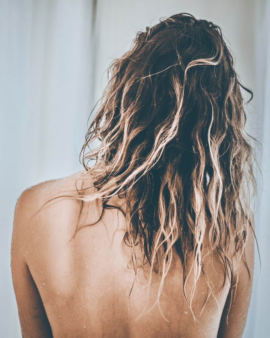 Rinse Hair with Cold Water - Warm water is relaxing and aids in helping shampoo to remove dirt, oil and debris more effectively. After shampooing and conditioning, however, rinsing the hair with cold water will close the hair cuticle. This means that your hair will hold onto the moisture longer and it will also produce a more vibrant shine.