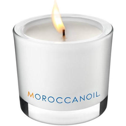Moroccan Oil Limited Edition Spa Candle - This limited edition spa candle has a burn life of up to 50 hours and a soothing Moroccan Oil scent. The simplistic design makes it blend in seamlessly with any existing home decor while boasting an eco-friendly composition.