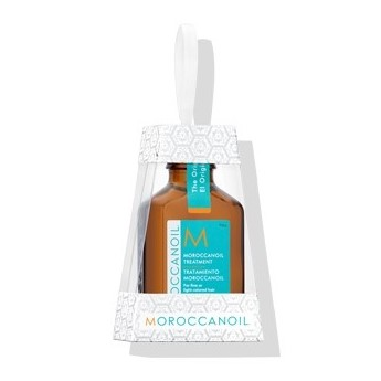 Moroccan Oil Treatment (Light) Holiday Ornament - This Morocca Oil treatment contains the beautiful, ready to gift pattern along with all of the same proteins and benefits of the original ornament but it is light enough to use as a finishing treatment.