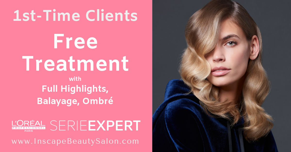 Nourish Your Highlights! - Strengthen, Repair, Replenish & Protect your Highlights with our exclusive L'Oréal Professionnel in-salon treatment recommended after any highlights service. New clients receive a FREE L'Oréal Powermix Treatment.