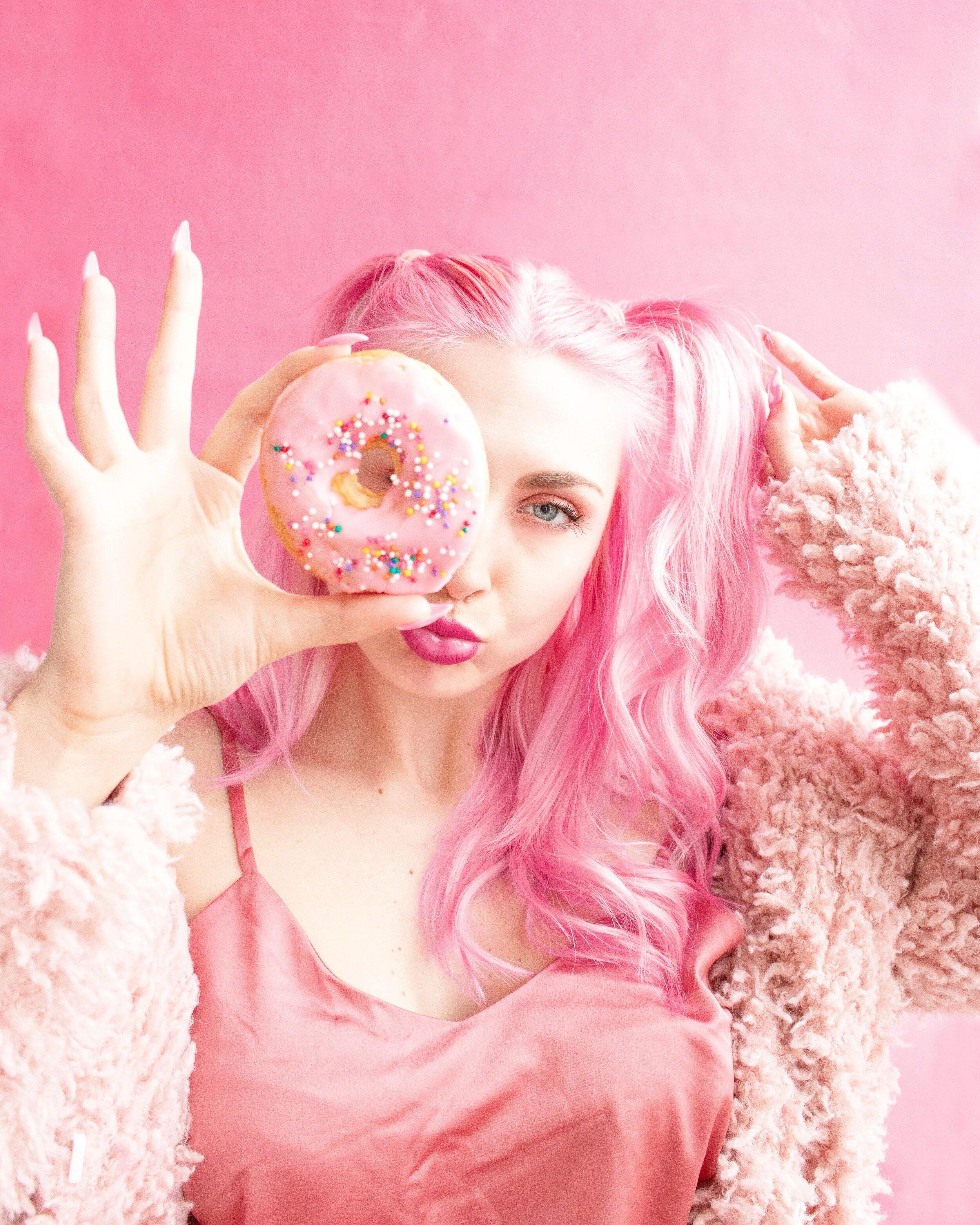 pink hair halloween