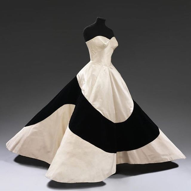 "Put your Sunday best on! Respect the creative mind, however crazy it can be �This dress ""Clover� was designed by Charles James in 1953..... yes 1953! This just inspires and excites me... 🖤. #designer #couture #inspiration #creative #designideas #interiordesignideas #luxuryfabrics #biddleandbarton"