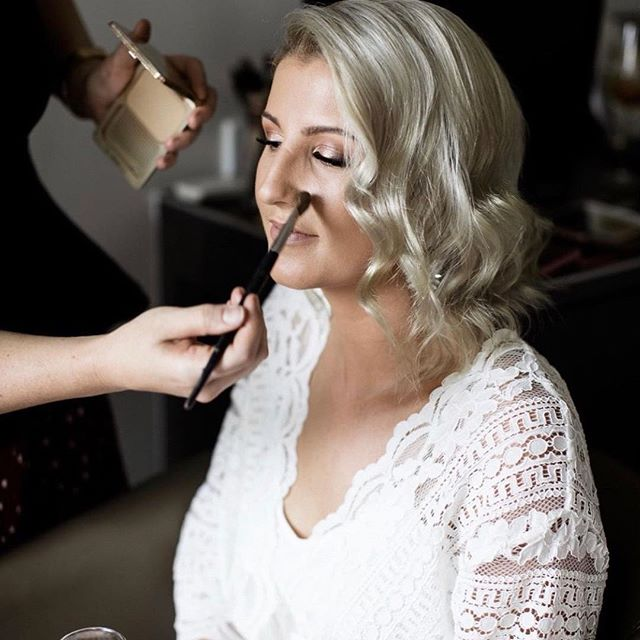 @kirbyleec on her special day! Thanks to @megankelly.photo for the action shot! ⠀ @hollystewart.hair  On the hair! 👌🏼⠀ Key products: as you can see @napoleonperdis camera finish powder, always! Also NP Pink champangne loose dust on the eyes, + @anastasiabeverleyhills mario palette. ⠀ @modelrocklashes individuals - they feel so much better on your eyes, for those who havent tried them, it will change your life!