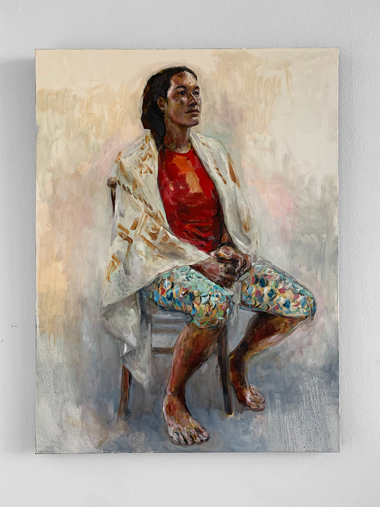"""""""Hope in the Form of a Seated Woman"""", 2018 by Solomon Enos"""