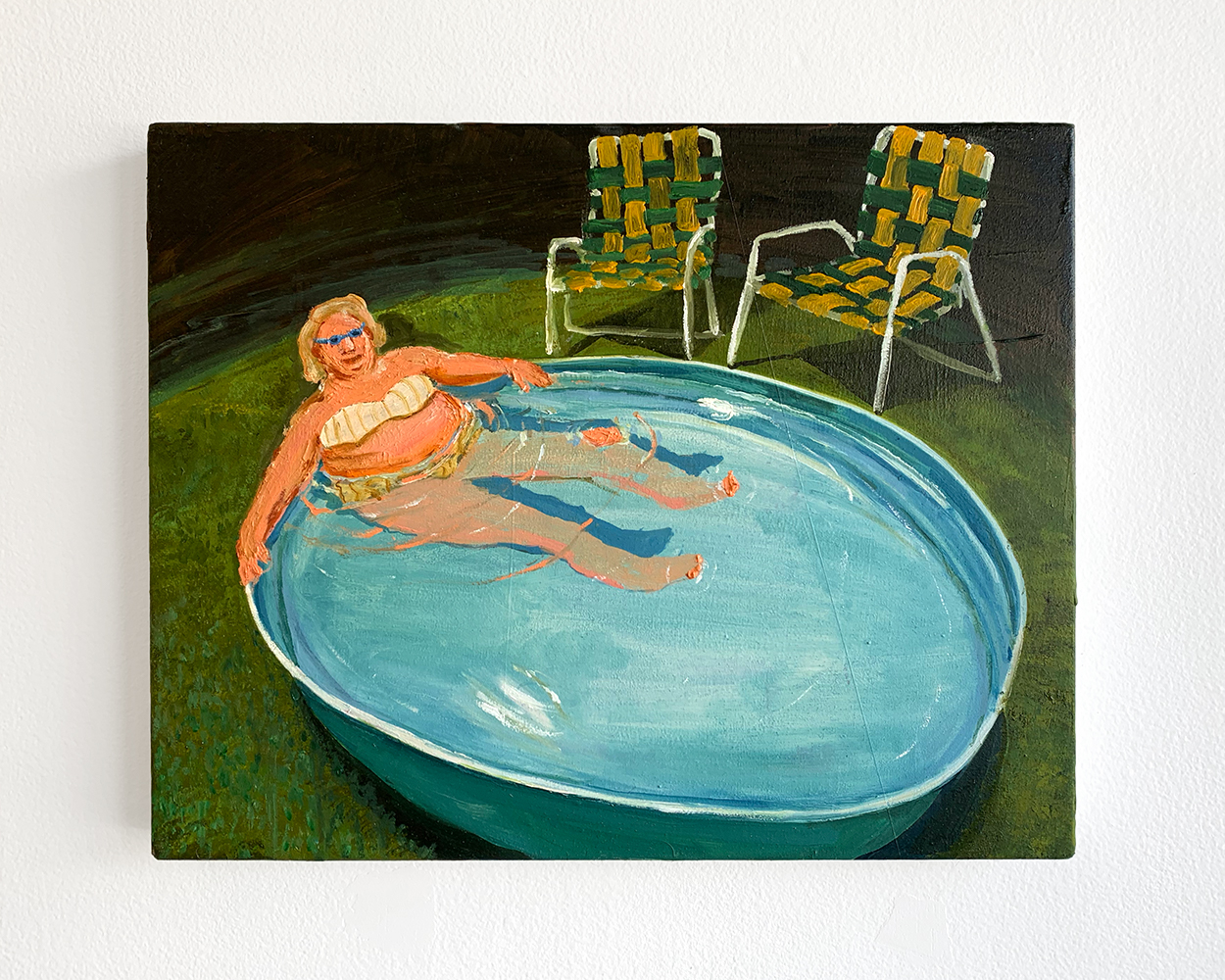 "Mother of Eric Fischl's ""Sleepwalker"" Lounging in Same Pool, 2019"