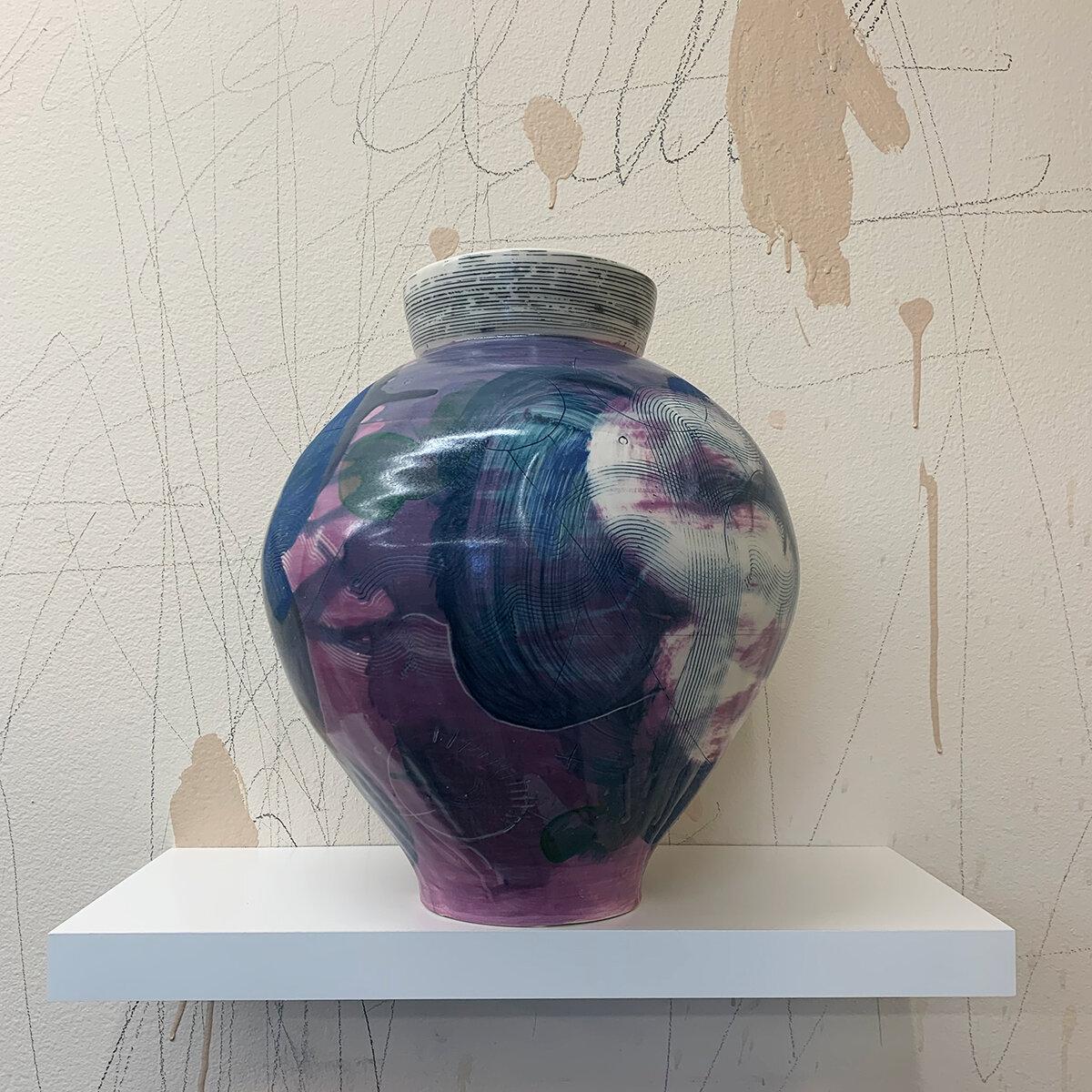 Vase (purple), 2018