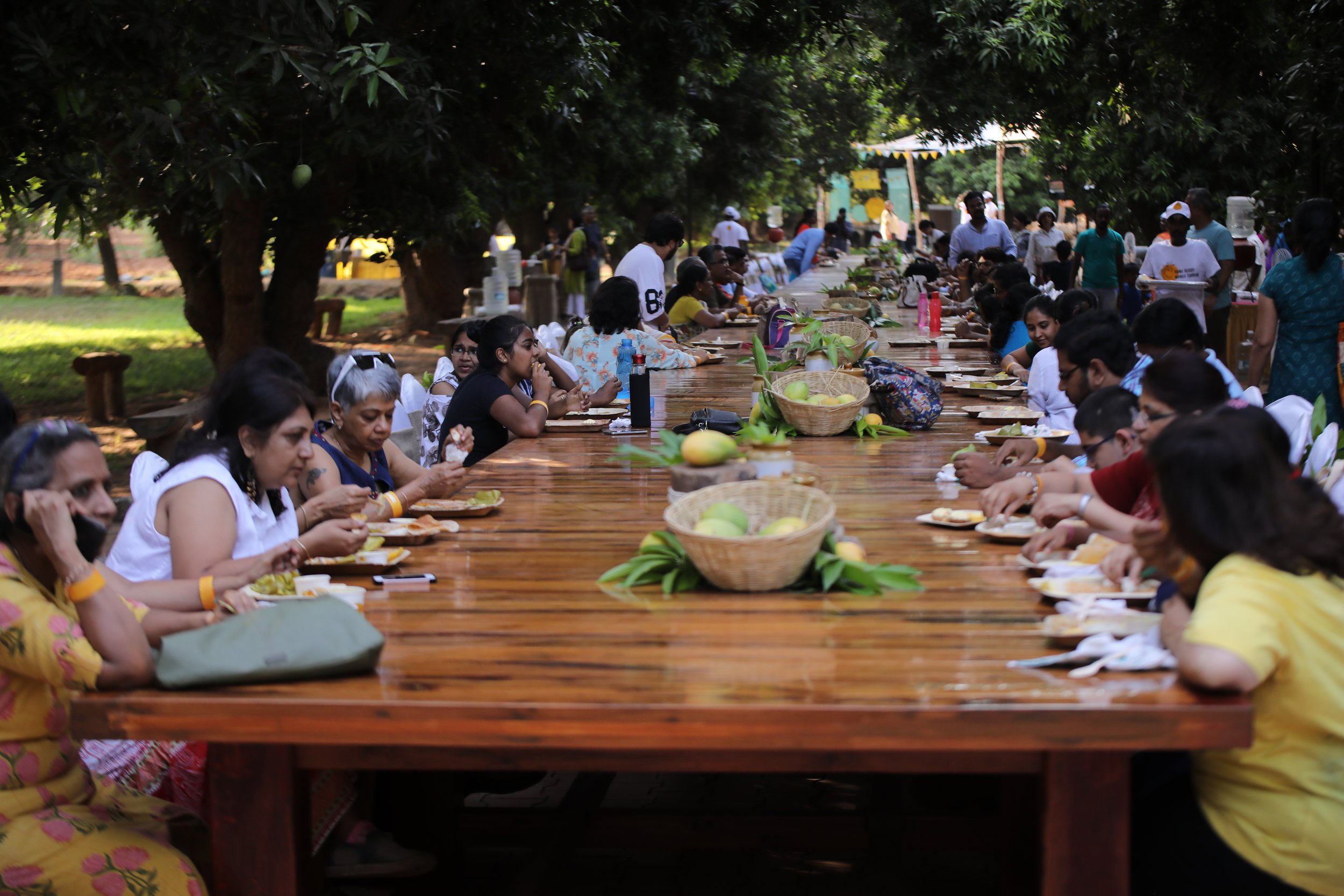 COMMUNITY - Eat and make merry at the 156 ft long communal table.