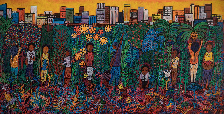 los angeles garden, 2018, 160x80
