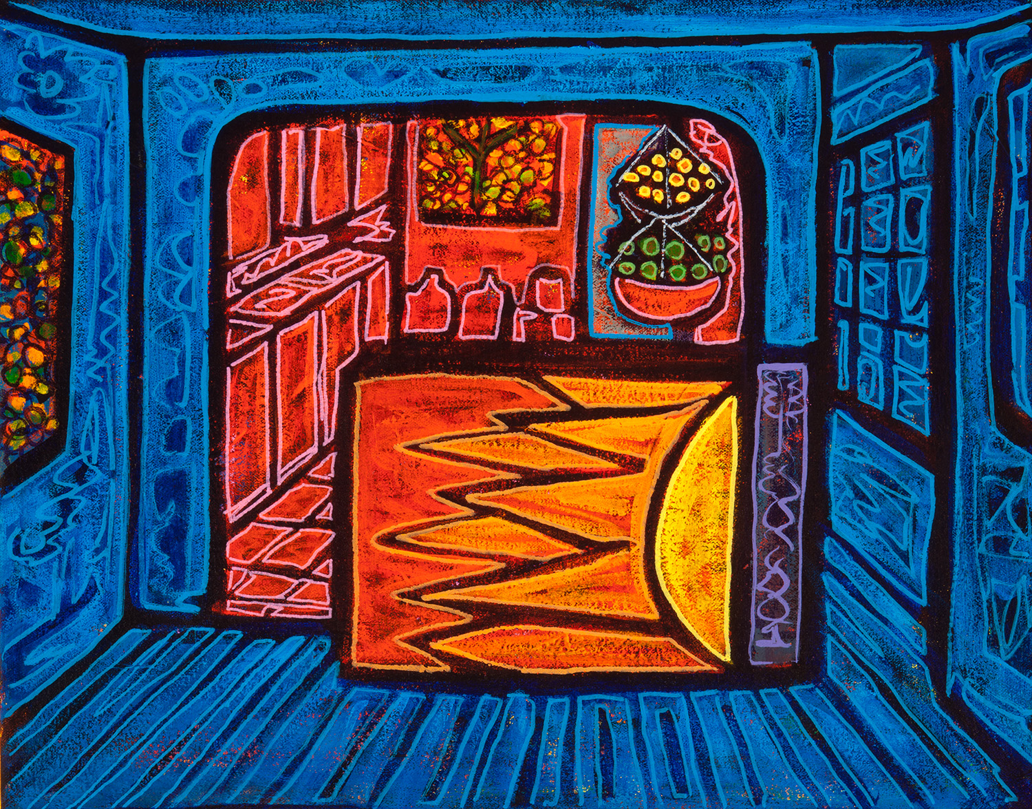 blue dining room, 2015, 19x14